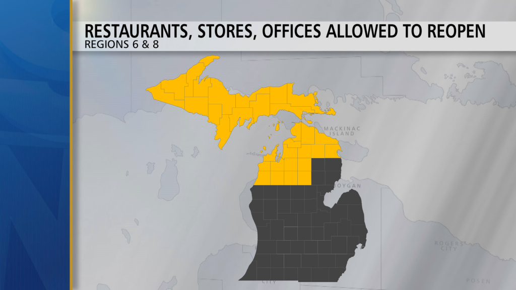 Michigan Reopening Map 6 And 8