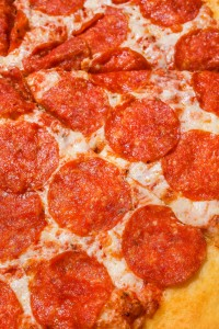 Cheesy Pepperoni Pizza In Close Up View 4109076