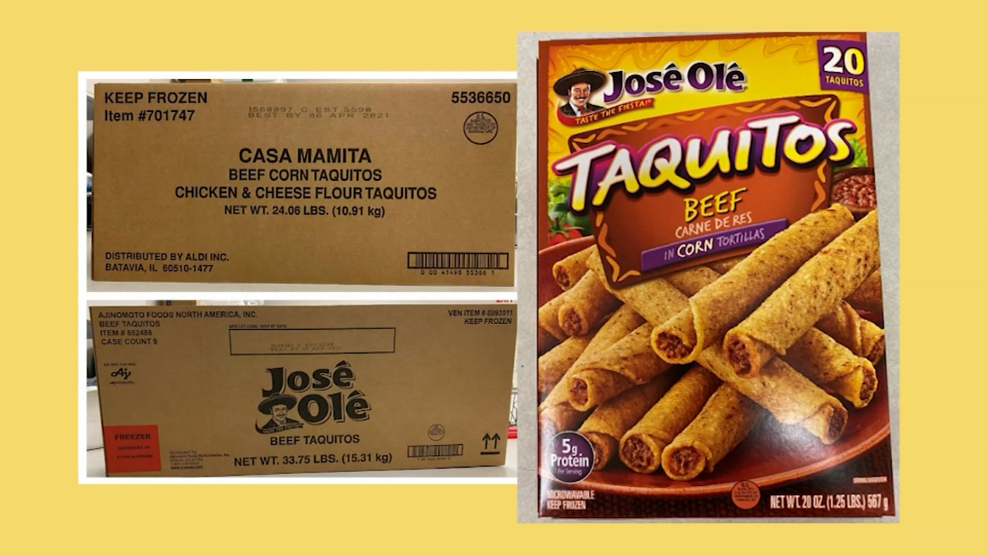 Taquitos Chimichangas Recalled Due To Possible Plastic Contamination 9 10 News