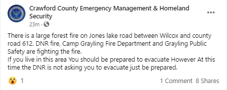 Second Grayling Fire