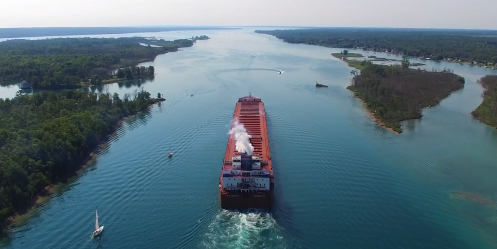 Northern Michigan From Above: Farwell To Captain Thibaudeau
